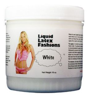 16oz White Liquid Latex Body paint