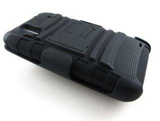 HYBRID HARD CASE COVER BELT CLIP HOLSTER HTC EVO DESIGN 4G HERO S