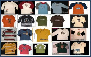 NWT Gymboree Boys Cotton Shirt top tee long sleeve