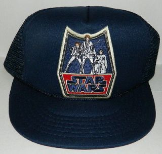 Star Wars Han, Luke & Leia Retro Logo Embroidered Patch Baseball Hat