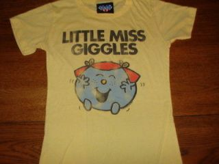 JUNIOR GIRLS JUNK FOOD LITTLE MISS GIGGLES T SHIRT YELLOW SIZE SMALL