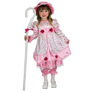 Little Bo Peep Fairy Tale Pink Dress Up Halloween Deluxe Toddler Child