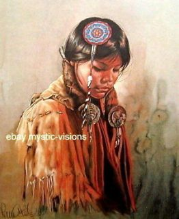 Penni Anne Cross THE BLESSING Native American S/N Art