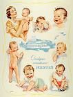 1930 BEBE Nestle   Cute Baby in Highchair   French Ad