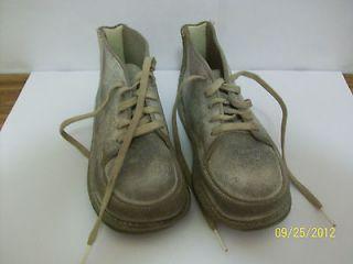 Jumping Jacks Originals Vintage Baby Toddler White Leather Shoes