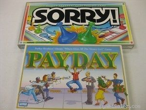 Set of Two Board Games Pay Day and Sorry #78666