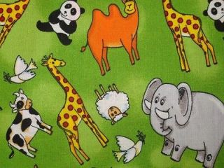 Robert Kaufman Cute Panda Bear Bamboo Cotton Fabric Yellow OOP Fat