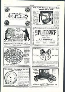 1912 AD Automobile Car Auto Splitdorf Magneto Ford Coupe Bodies Body