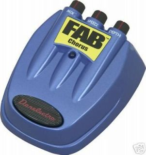 DANELECTRO D 5 FAB CHORUS GUITAR EFFECTS PEDAL D5 NEW