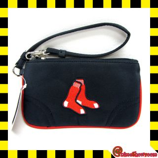 MLB Boston RED SOX Team Logo Licensed Womens Wristlet Wallet/Purse/B