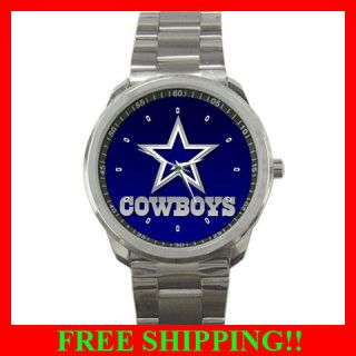 Hot New Item Dallas Cowboys Logo nfl team football Sport metal Watch