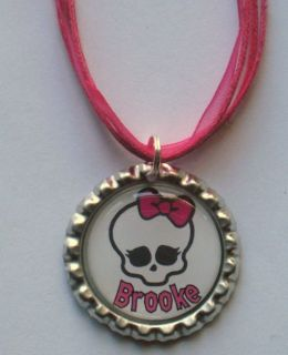 Boutique Bottlecap Necklace Monster High PERSONALIZED NAME Skullette