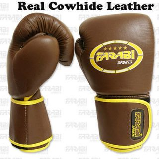 Cowhide Leather Sparring Boxing Gloves Boxing Mitts Real Leather