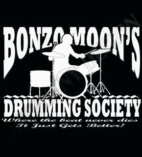 Drummers T Shirt Keith Moon John Bonham Inspired T Shirt Led Zeppelin