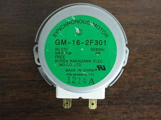 Microwave Turntable Motor 5/6 RPM Part # GM 16 2F301 / 6549W1S017J