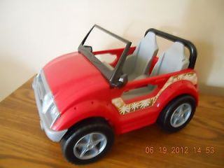Barbie doll house red Jeep car vehicle bratz
