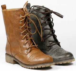 Up Military Combat Mid Calf Boot NATURE BREEZE LUG 13 Black Brown Tan