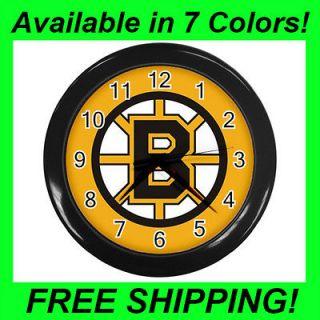 Boston Bruins Hockey   Wall Clock (Choose from 7 Colors)  PP1055