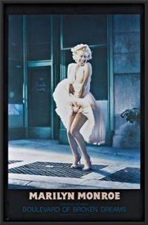 Marilyn Monroe Blvd Of Broken Dreams Poster Dry Mounted in Black Wood