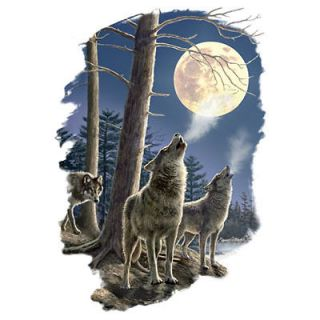 Long Distance Call T Shirt You Choose Style, Size, Color Wildlife Wolf