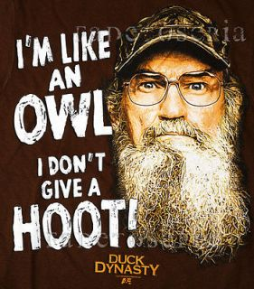 SHIRT SI DONT GIVE HOOT COMMANDER ROBERTSON LOGO BUCK CALLS HEY