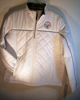 Pittsburgh Steelers Ladies White g iii Jacket Coat Womens Touch XXL