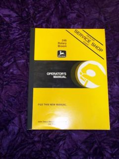 John Deere 246 Rotary Broom Operators Manual