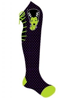 Too Fast Bolt Bride Lace Socks Bride Frankenstein Rockabilly Goth Punk