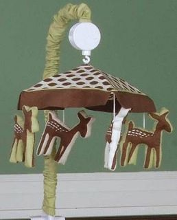 and Brown Deer Neutral Baby Boy/Girl Forest Animal Crib Musical Mobile