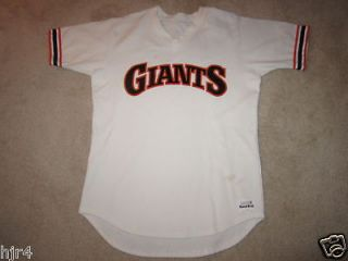 Vintage San Francisco Giants Sand Knit Worn Jersey 44