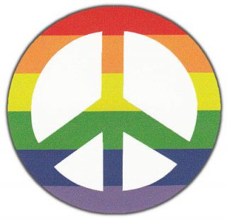 Bumper Stickers Rainbow Color Peace Sign Hippy Support Peace Anti War