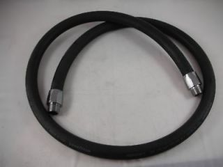 GAS PUMP HOSE 6 WITH 3/4 CHROME ENDS FREE SHIPPING