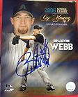 Brandon Webb Signed Official MLB Baseball Plus Signed Card Cy Young