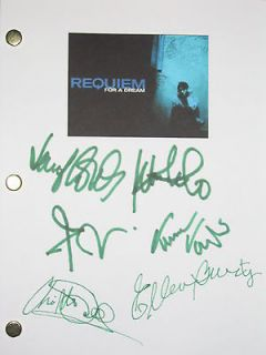 Requiem for a Dream Signed Movie Script X6 Jared Leto Connelly Wayans