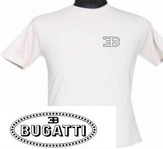 Bugatti T Shirt Front and Back Italian Car