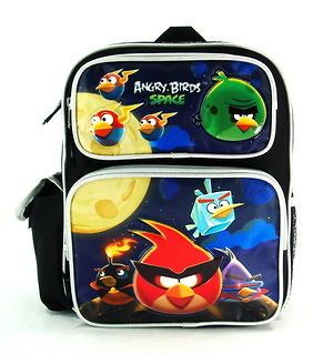 Licensed Rovio Angry Birds SPACE Blue Kids Size Toddler 12 Backpack