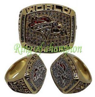New 1997 Denver Broncos Super Bowl World ChampionShip ring, size 10