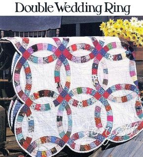 Double Wedding Ring Quilt, Circles & Curves quilt sewing pattern