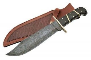 NEW 15 Damascus Steel, Real Buffalo Horn Handle Classic Bowie Knife