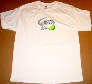 nwot BUD light LIME budweiser SHIRT large L bar BARTENDER adult BEER