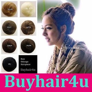Bun Updo Woman New Hairpieces Clip on Hair Piece Extensions chignon