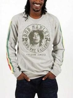 BOB MARLEY LONG SLEEVE T SHIRT WAILERS 1974 LICENSED ADULT MENS S M L