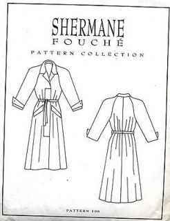 Fouche Pattern Collection Classic Trench Coat Sewing Pattern Size 8 18