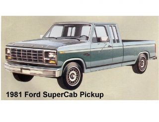 1981 Ford SuperCab Pickup Truck Refrigerator / Tool Box Magnet
