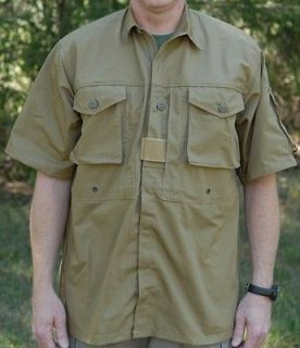 Arktis A712 Short Sleeve Hot Climate Shirt Large COYOTE BROWN CCW SAS