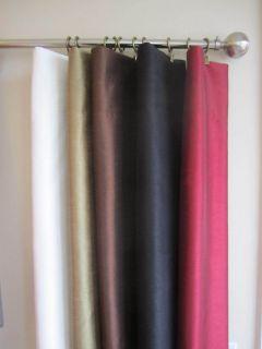 Faux Silk Window Curtain Panels W/ Lining, NEW, 2 Panels Per Set