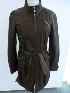 Brunello cucinelli leahter jacket woman italian size 4036