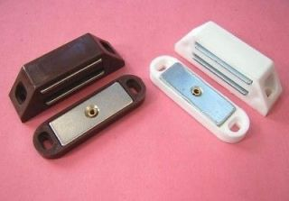 2x MAGNETIC Catch.WHITE BROWNCaravan/mobile home/cabinet STRONG 6kg