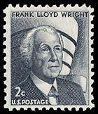 1968 2c Frank Lloyd Wright Scott 1280 Mint F/VF NH