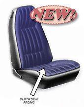 77 CAMARO STANDARD FRONT BUCKET SEAT CLOTH COVERS   PAIR   BUCKSKIN